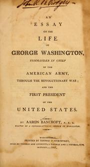Cover of: An essay on the life of George Washington