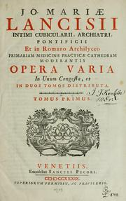 Cover of: Opera varia in unum congesta