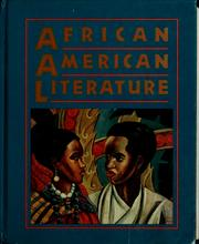 Cover of: African American Literature