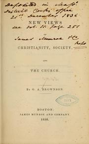 Cover of: New view of Christianity, society and the church