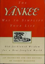 Cover of: The Yankee way to simplify your life