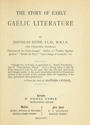 Cover of: The story of early Gaelic literature