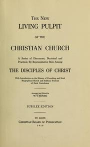 Cover of: The new living pulpit of the Christian Church