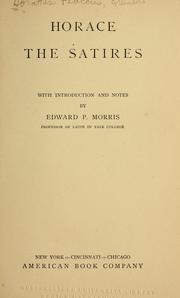 Cover of: Horace.  The satires