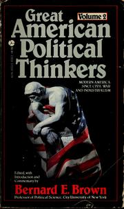 Cover of: Great American political thinkers