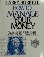 Cover of: How to manage your money