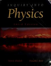 Cover of: Inquiry into physics by Vern J. Ostdiek