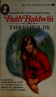 Cover of: Thresholds
