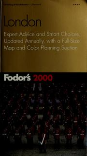 Cover of: Fodor's 2000 London