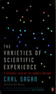 Cover of: The varieties of scientific experience