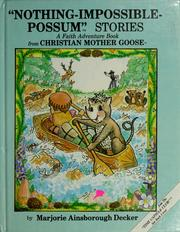 Cover of: Nothing-Impossible-Possum stories