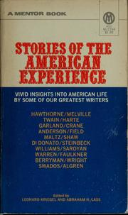 Cover of: Stories of the American experience
