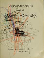 Cover of: House-of-the-month book of small houses | Harold E. Group