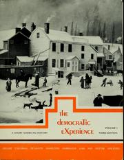 Cover of: The democratic experience