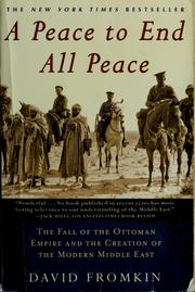 Cover of: A peace to end all peace