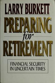 Cover of: Preparing for Retirement