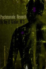 Cover of: Psychosomatic research