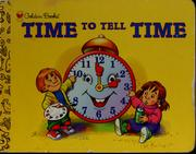 Cover of: Time to tell time