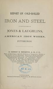 Cover of: Report on cold-rolled iron and steel