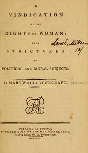 Cover of: A vindication of the rights of woman
