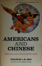 Cover of: Americans and Chinese