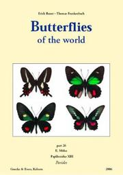 Cover of: Butterflies of the World, Part 26: Papilionidae XIII. Parides by
