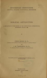 Cover of: Biblical antiquities