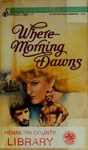 Cover of: Where morning dawns
