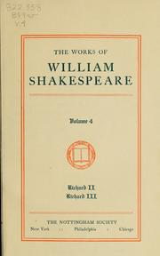 Cover of: The works of William Shakespeare |