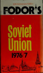 Cover of: Fodor's Soviet Union