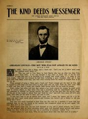 Cover of: Abraham Lincoln--the boy who was not afraid to be kind | E. M. S. Fite