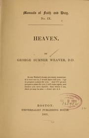 Cover of: Heaven | G. S. Weaver