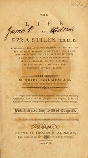 Cover of: The life of Ezra Stiles