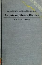 Cover of: American library history | Michael H. Harris