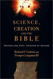 Cover of: Science, creation and the Bible