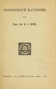 Cover of: Oudnoorsch handboek