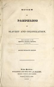 Cover of: Review of pamphlets on slavery and colonization