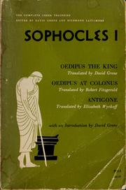 Cover of: Sophocles I