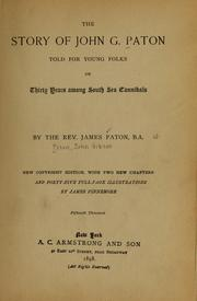Cover of: The story of John G. Paton, told for young folks