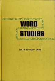 Cover of: Word studies