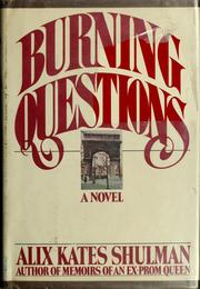 Cover of: Burning questions: a novel