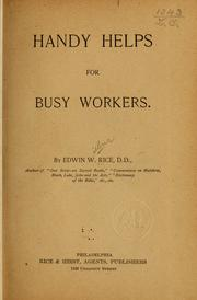 Cover of: Handy helps for busy workers