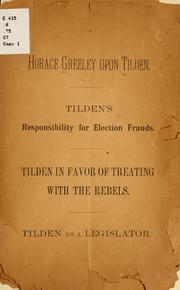 Cover of: Horace Greeley upon Tilden