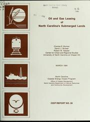 Cover of: Oil and gas leasing of North Carolina