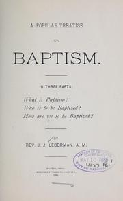 A popular treatise on baptism