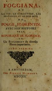 Cover of: Poggiana