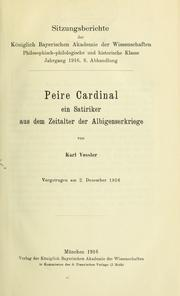 Cover of: Peire Cardinal