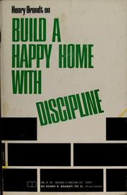 Cover of: Build a happy home with discipline