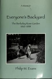 Cover of: Everyone's backyard
