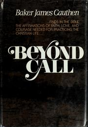 Cover of: Beyond call